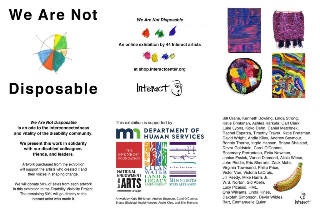We Are Not Disposable postcard